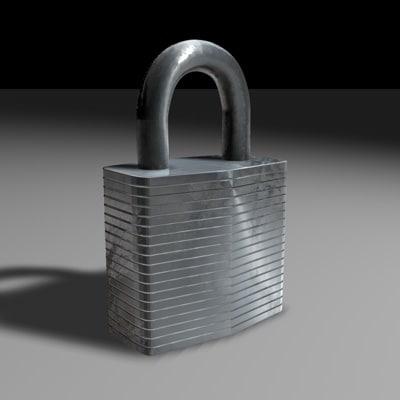 pad lock c4d