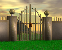 gate fence kit 3d model