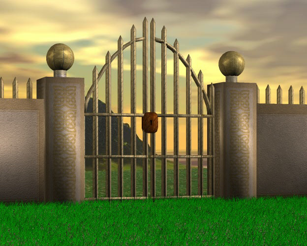 gate fence kit 3d model