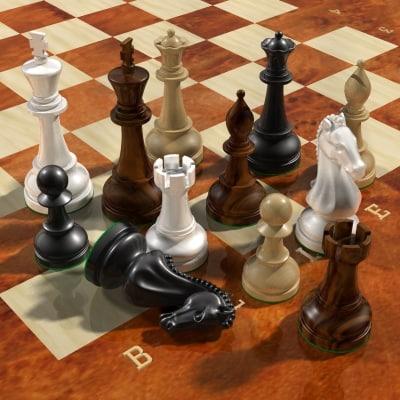 chess chessboard 3d model
