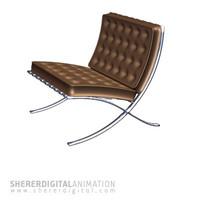 barcelona chair 3d model