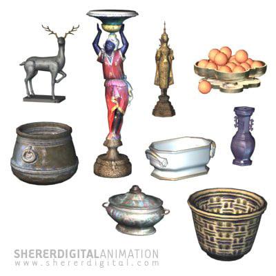 vase statue pot max