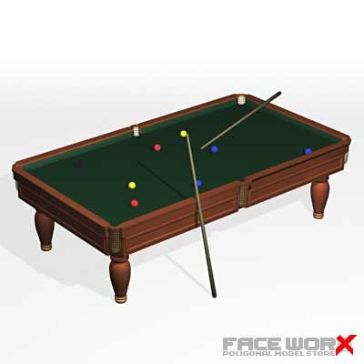 3d model pool table