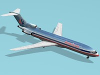 3d model b 727-200 american airlines