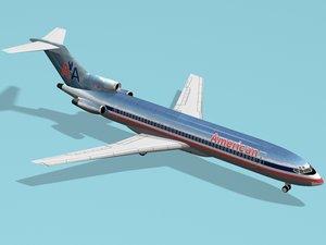 3d model b 727-200 american airlines
