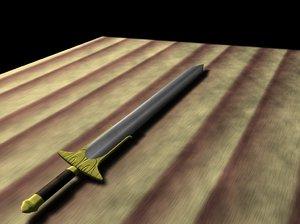 3d model sword
