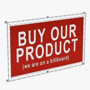 billboard sign 3d model