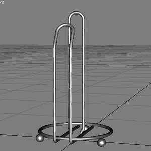 wire paper towel rack 3d max