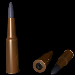 generic bullet 3d model