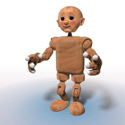 modeled doll 3d model