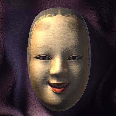 japanese noh masks ko-omote 3d model