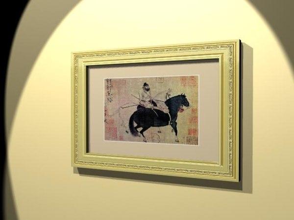 artwork frame 3d 3ds