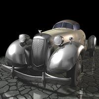 car antique 3d max