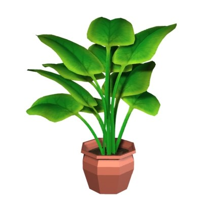 3d house plant pot model