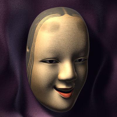 3d noh mask model