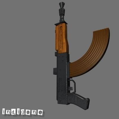 ak-47 kalashnikov 3d max