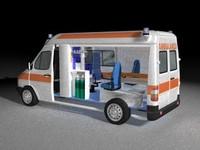 italian ambulance 3d model