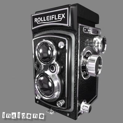 rolleiflex camera 3d max