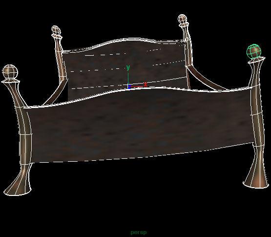 post bed 3d model