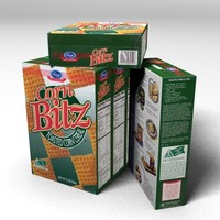 3d corn bitz cereal box model
