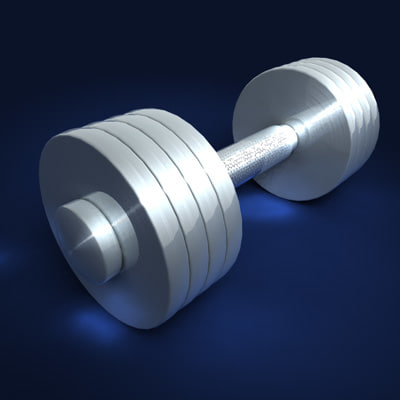 exercise weight 3d model