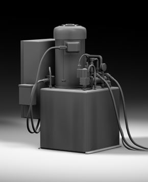 3d model power compressor
