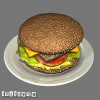 hamburger 3d max