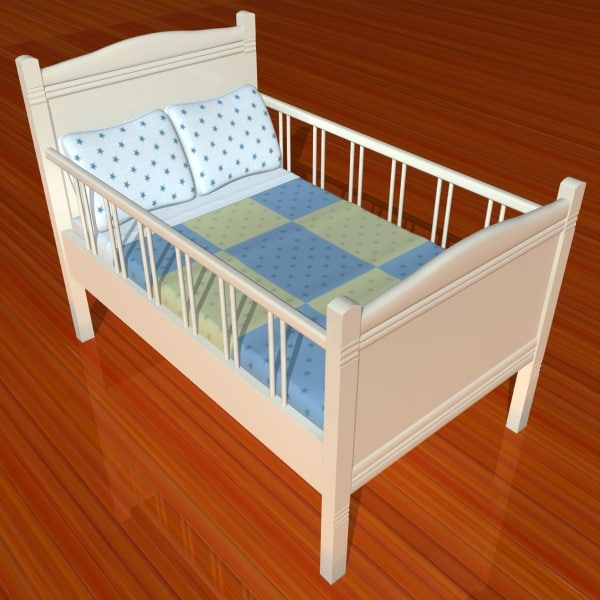 3d model wooden cradle