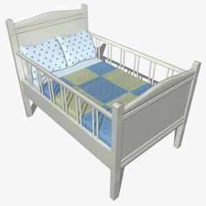 3d model wooden cradle