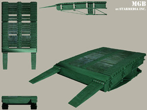 medium bridge mgb 3d model