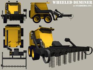 3d model of wheeled deminer
