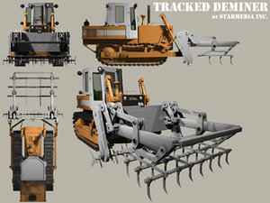 3ds max tracked deminer