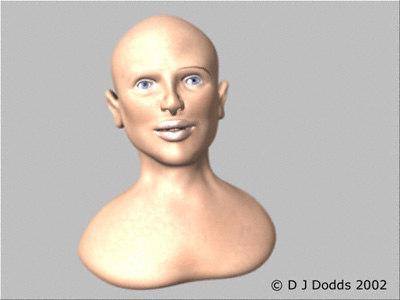 lwo human female face head