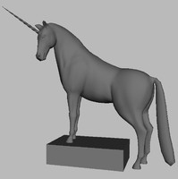 3d model of horse unicorn