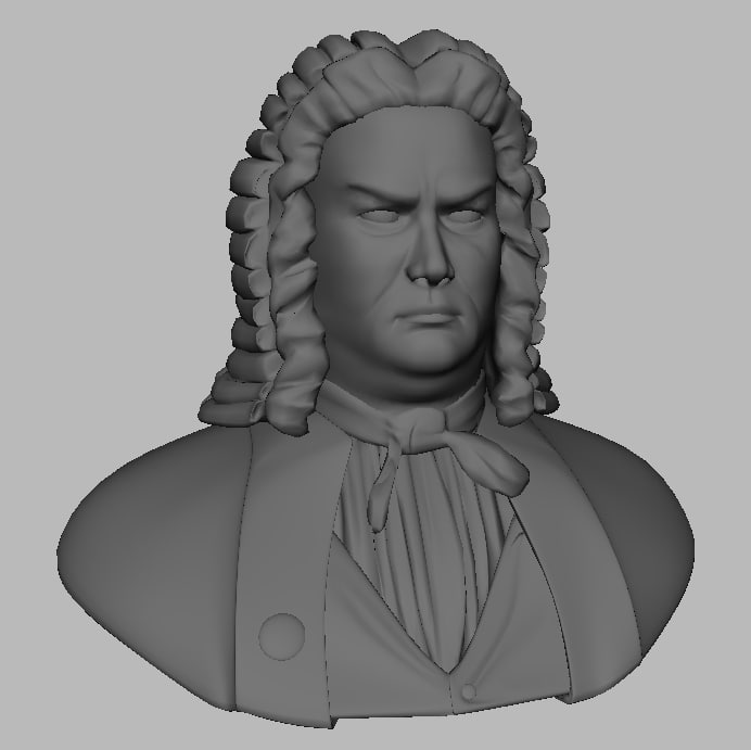 3d model bach man character