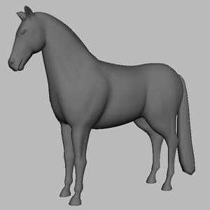 3d horse strong model