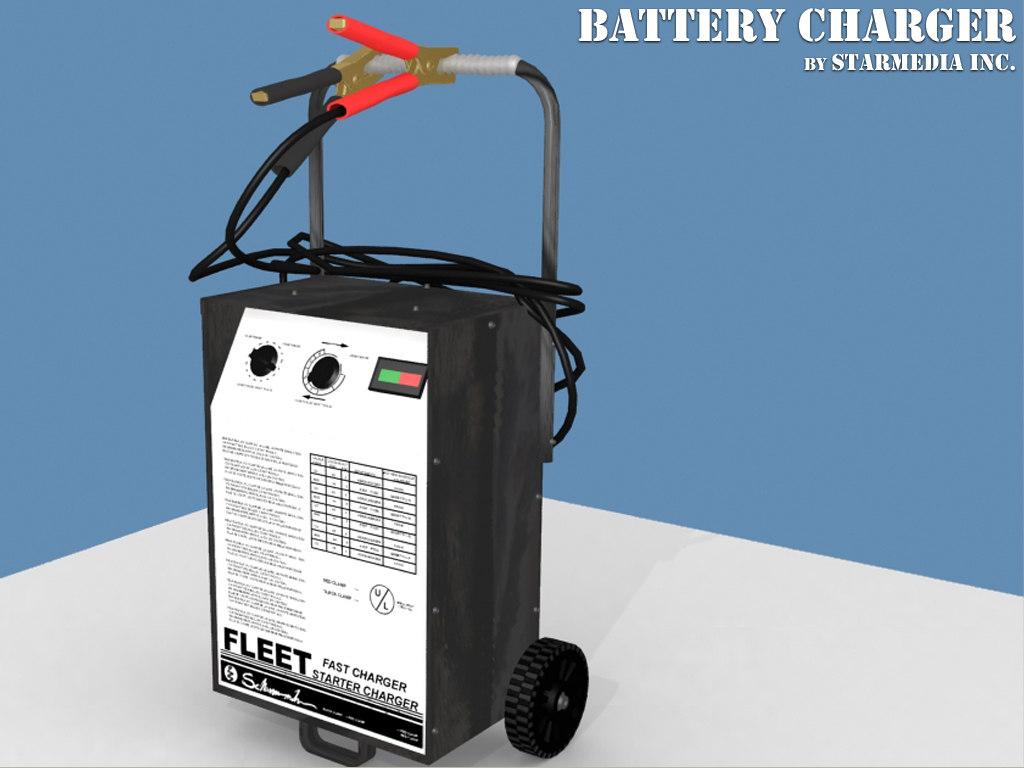 3d model battery charger batterycharger