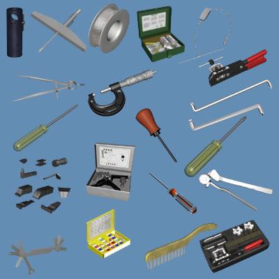 maintenance hand tools 3d model