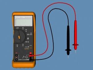 3d fluke multimeter 002 flukemultimeter002 model