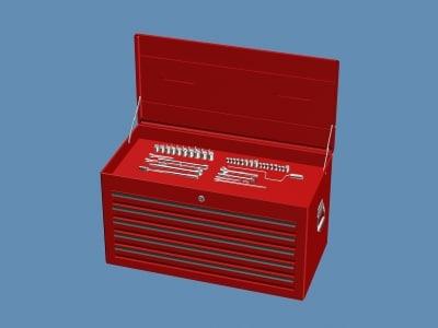 3d tool box 001 toolbox001 model