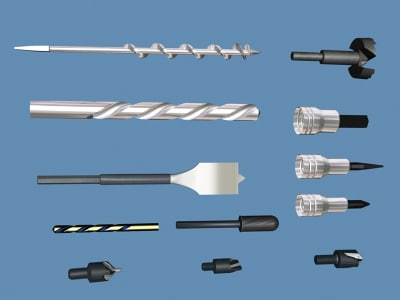 drill bits mixed 3d model