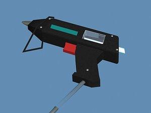 gun glue hot melt 3d model
