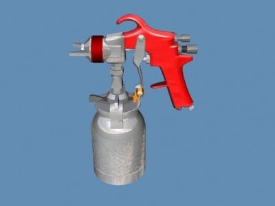 3d spray gun model