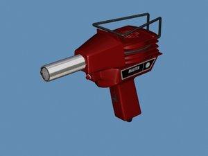 heat gun 3d model