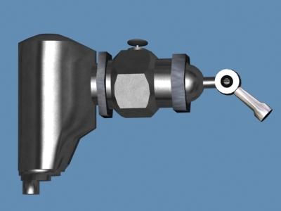 maya rivet gun handle light