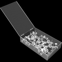 box pushpins 3d model