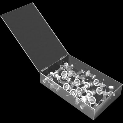 box pushpins 3d model
