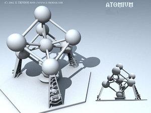 atomium building 3d model