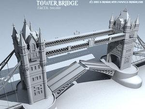 tower bridge london 3d model