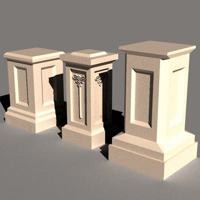 3d model of architecture stairs